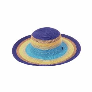 Joy Susan Striped Sun Hat Adjustable Royal Oatmeal