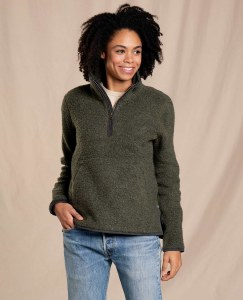Toad & Co  Telluride Sherpa Pullover  S Beetle