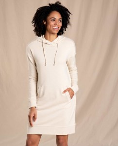 Toad & Co  Follow Through Hooded Dress S Oatmeal