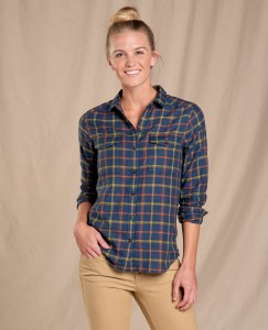 Toad & Co  Re-Form Flannel Shirt M Big Sky