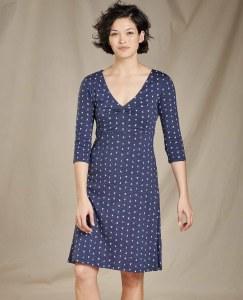 Toad & Co  Rosalinda Dress Medium True Navy V Print