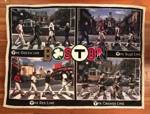 "The Boston Sports Apparel Boston ""T"" Legends Sherpa Throw NS Multi"