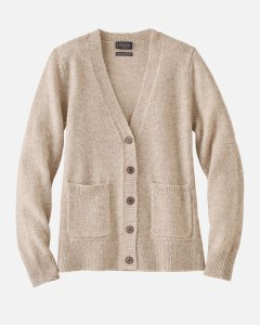 Pendleton Shetland Cardigan Small Oat Heather