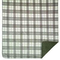 "Denali Tartan Plaid Microplush Throw 60""x70"" Sterling"
