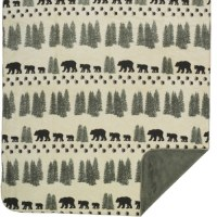 "Denali Pearl Denali Bear Microplush Throw 60""x70"" Sage"