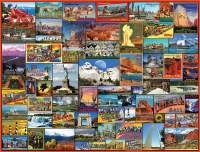 White Mountain Puzzles Best Places In America Puzzle 1000 Pieces