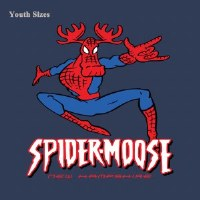 Woods & Sea SpiderMoose New Hampshire Youth S/S Tee 2T Navy