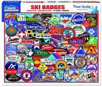 White Mountain Puzzles Ski Badges Puzzle 1000 Pieces