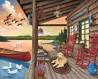 White Mountain Puzzles Welcome to the Cabin Puzzle 1000 Pieces