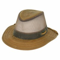 Outback Trading Company Willis Mesh Oilskin Large Field Tan