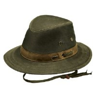 Outback Trading Company Willis Oilskin Hat Medium Sage