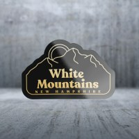 Sticker Pack GE Mountains - Black and Gold Decal Large
