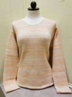 Binghamton Knitting Co Lightweight Vee Sweater Small Flame