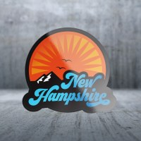 Sticker Pack Tahoe Text with Mountains Decal Large