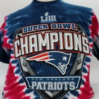 Liquid Blue Patriots Superbowl LIII Tye Dye S/S Tee Medium Tye Dye