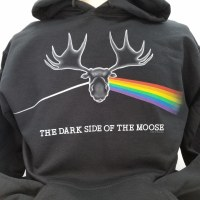 Dave's Tees Dark Side of the Moose Hoodie Small Black