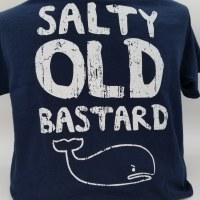 Pacific Art Salty Old Bastard S/S Tee Medium Navy