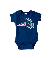 Woods & Sea Patriot Moose Onesie 6 Mos Navy