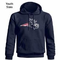 Woods & Sea Patriot Moose Youth Hoodie Small Navy