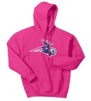 Woods & Sea Patriot Moose Women's Hoodie Small Pink