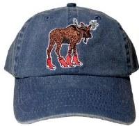 Woods & Sea Sox Moose Ball Cap One Size Denim