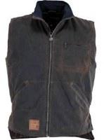 Outback Trading Company Sawbuck Oilskin Vest Medium Bronze