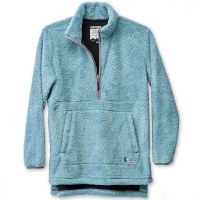 Kavu Snowpack Pullover Fleece Jacket XS Blue Spruce