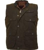 Outback Trading Company Overlander Oilskin Vest Large Bronze