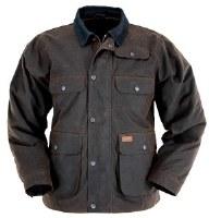 Outback Trading Company Overlander Oilskin Jacket Large Bronze