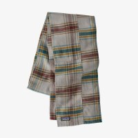 Patagonia Fjord Flannel Patchwork Scarf  OS Defender: Feather Grey