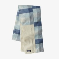 Patagonia Fjord Flannel Patchwork Scarf  OS Upriver:Wooly Blue