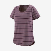 Patagonia W's Cap Cool Trail Shirt XS Furrow Stripe: Hyssop Purple