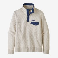 Patagonia W's Organic Cotton Quilt Snap-T Pullover S Pelican w/ Stone Blue