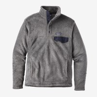 Patagonia M's Re-Tool Snap-T P/O M Feather Grey - Ink Black X-Dye