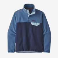 Patagonia W's Lightweight Synchilla Snap M New Navy W/ Woolly Blue
