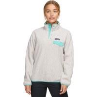 Patagonia Women's Lightweight Synchilla Snap-T Fleece Pullover M Oatmeal Heather W Light Beryl