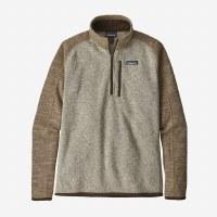 Patagonia Men's Better Sweater 1/4-Zip Fleece X-Large Bleached Stone w/Pale Khaki
