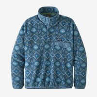 Patagonia M's Lightweight Synchilla Snap-T Pullover L Honeycomb: Stone Blue