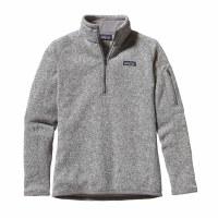 Patagonia Women's Better Sweater 1/4 Zip Fleece X-Small Birch White