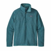 Patagonia Women's Better Sweater 1/4 Zip Fleece Small Tasmanian Teal