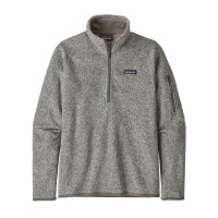Patagonia Women's Better Sweater 1/4-Zip Fleece XX-Large Birch White