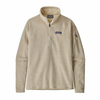 Patagonia Women's Better Sweater 1/4-Zip Fleece X-Large Oyster White
