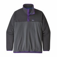 Patagonia Men's Micro D Snap-T Fleece Pullover L Forge Grey
