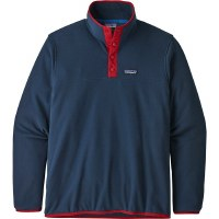 Patagonia Men's Micro D Snap-T Fleece Pullover L New Navy with Classic Red