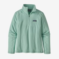 Patagonia W's Micro D 1/4 Zip XS Gypsum Green