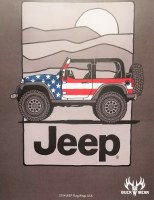 Buck Wear Inc Jeep Flag Wrap USA S/S Tee 2XL Dark Heather