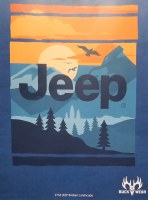 Buck Wear Inc Jeep Broken Landscape S/S Tee S Blue