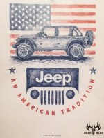 Buck Wear Inc Jeep Patriotic S/S Tee XL Silver