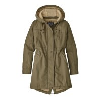 Patagonia W's Insulated Prairie Dawn Parka Small Sage Khaki