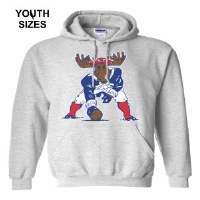 Woods & Sea Minute Moose Youth Hoodie Small Sports Grey